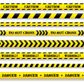 Set of caution tapes on white background Stock Photography