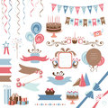 Set of celebration design elements collection decorative Royalty Free Stock Photo