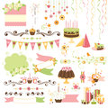 Set of celebration design elements collection decorative Royalty Free Stock Photos