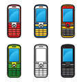 Set of Cell Phones Stock Photos
