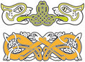 Set of celtic animals design elements Stock Photography