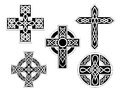 Set of celtic crosses Stock Photography