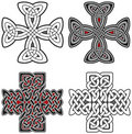 Set of celtic crosses design elements Royalty Free Stock Photos