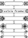 Set celtic frame an element of design in the irish style vector Royalty Free Stock Photography