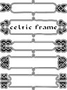 Set celtic frame an element of design in the irish style vector Royalty Free Stock Photos