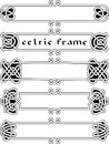 Set celtic frame an element of design in the irish style vector Royalty Free Stock Photo