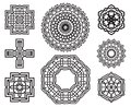 Set of celtic knot design elements symbols Stock Photo