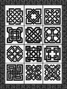 Set celtic traditional signs for a frame and design vector Stock Image