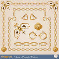 Set of chain elements Stock Images