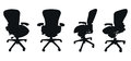 Set of chair silhouettes Royalty Free Stock Photos