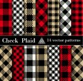 Set Check  Plaid  Seamless Patterns Backgrounds Royalty Free Stock Photo