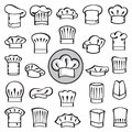 Set of chef hats Royalty Free Stock Image