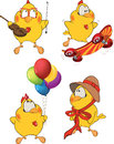 Set of Chicken Cartoons Royalty Free Stock Image
