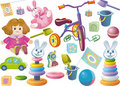 Set of children's toys Stock Photo