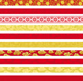 Set of chinese decorative banners backgrounds header and banner Stock Image