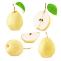 Set of chinese pear fruits Royalty Free Stock Photo