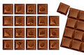 Set of chocolate bars with icons of food and holidays. Royalty Free Stock Image