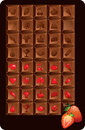 Set of chocolate bars with icons of food and holidays. Additiona Stock Photo