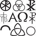 Set of christian symbols Stock Photography