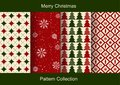 Set of Christmas abstract vector paper with Christmas symbols and design elements. Royalty Free Stock Photo