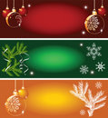 Set of Christmas backgrounds Stock Images