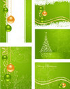 Set christmas backgrounds Royalty Free Stock Photos