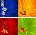 Set christmas backgrounds Royalty Free Stock Image