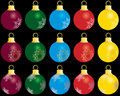Set of christmas balls Royalty Free Stock Image