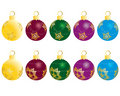 Set of christmas balls Royalty Free Stock Images