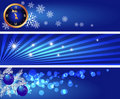 Set Christmas banners Stock Photo