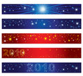 Set of Christmas banners with stars Stock Image
