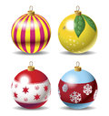 Set of Christmas baubles Stock Photo
