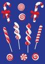 Set of Christmas candy