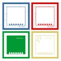 Set of christmas cards four abstract Royalty Free Stock Photography