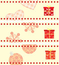 Set of christmas cards with a gifts horizontal format Royalty Free Stock Photo