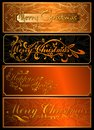 A set of christmas cards vector and new year Stock Photo
