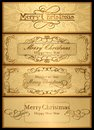 A set of christmas cards vector and new year Royalty Free Stock Image