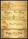 A set of christmas cards vector and new year Royalty Free Stock Images