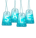 Set Christmas colorful discount tickets Royalty Free Stock Photo
