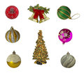 Set of christmas decorations on isolated background Stock Image