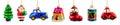 Set of christmas decorations Royalty Free Stock Photo