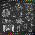 Set of christmas elements for design and scrapbook in Stock Photos