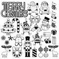 Set Of Christmas Elements Isolated On White Background