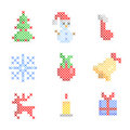 Set of christmas embroidery Stock Photo