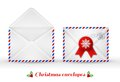 Set of Christmas envelopes. Vector illustration. Royalty Free Stock Photo
