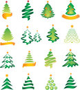Set of christmas firs Royalty Free Stock Photos