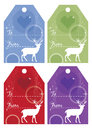 Set of Christmas gift tags Stock Photos