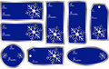 Set of Christmas Gift Tags in Blue Stock Photos