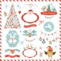 Set Of Christmas Graphic Eleme...