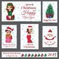 Set of christmas greeting cards different oridginal for your design Royalty Free Stock Photo
